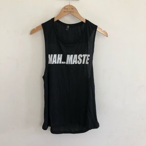 """Private Party """"Nah...Maste"""" tank top size S"""